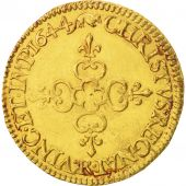 France, Louis XIV, Écu dor, 1644, Arras, SUP, Or, KM:146.2, Gadoury 232