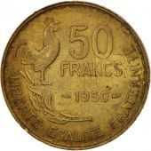 France, Guiraud, 50 Francs, 1950, Paris, EF(40-45), Aluminum-Bronze, KM:918.1