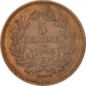 Luxembourg, William III, 5 Centimes, 1854, Utrecht, SUP+, Bronze, KM:22.1