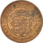 Luxembourg, William III, 10 Centimes, 1855, Paris, SUP, Bronze, KM:23.2