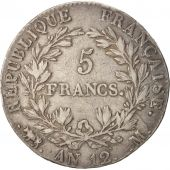 France, 5 Francs, 1804, Toulouse, VF(30-35), Silver, KM:660.8, Gadoury:579