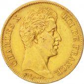 France, Charles X, 40 Francs, 1830, Paris, TB+, Or, KM:721.1, Gadoury:1105