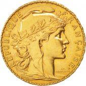 France, Marianne, 20 Francs, 1909, AU(55-58), Gold, KM:857, Gadoury:1064a