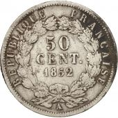 France, 50 Centimes, 1852, Paris, B+, Argent, KM:793, Gadoury:412
