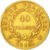 France, 40 Francs, 1810, Lille, TTB+, Or, KM:696.6, Gadoury:1084