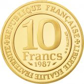France, 10 Francs, 1987, FDC, Or, KM:961b, Gadoury:820