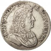 France, Louis XIV, 1/2 Écu à la cravate, 1676, Paris, AU(50-53), KM 230.1