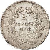 France, 2 Francs, 1856, Paris, EF(40-45), Silver, KM:780.1, Gadoury:523