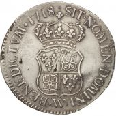 France, Louis XV, Écu de France-Navarre, 1718, Lille, VF(30-35), KM 435.22