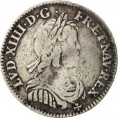 France, Louis XIV, 1/12 Écu à la mèche courte, 1644, Paris, Gadoury 111