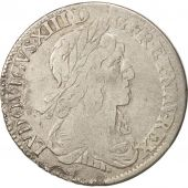 France, Louis XIII, 1/4 Ecu second poinçon de Warin, 1642, Paris, B+, Gadoury 48
