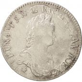 France, Louis XV, Écu Vertugadin, 1716, Paris, VF(30-35), KM 414.1