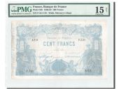 France, 100 Francs Indices Noirs 1875, PMG Ch F 15, Pick 52b