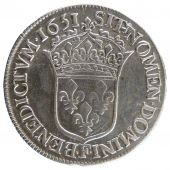LOUIS XIV, ½ Écu with long lock