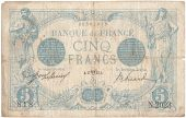 France, 5 Francs, 5 F 1912-1917 Bleu, 1913, KM:70, 1913-04-17, VF(20-25),...