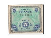 France, 5 Francs, 1944 Flag/France, 1944, 1944, KM:115a, TB, Fayette:VF17.1