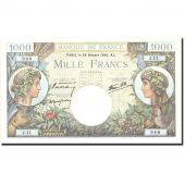 France, 1000 Francs, 1 000 F 1940-1944 Commerce et Industrie, 1940