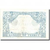 France, 5 Francs, 5 F 1912-1917 Bleu, 1916, KM:70, 1916-08-06, AU(55-58)