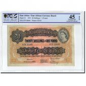 Banknote, EAST AFRICA, 20 Shillings = 1 Pound, 1955, 1955-01-01, KM:35, graded