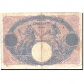 France, 50 Francs, 500 F 1888-1940 Bleu et Rose, 1915, 1915-12-30, KM:64e
