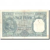 France, 20 Francs, 20 F 1916-1919 Bayard, 1918, KM:74, 1918-01-14