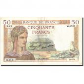 France, 50 Francs, 50 F 1934-1940 Cérès, 1937, KM:81, 1937-01-28