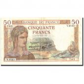 France, 50 Francs, 50 F 1934-1940 Cérès, 1938, 1938-11-03, VF(30-35)