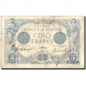 France, 5 Francs, 5 F 1912-1917 Bleu, 1916, 1916-08-07, VF(20-25)