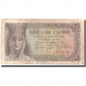 Billet, Espagne, 5 Pesetas, 1943, 1943-02-13, KM:127a, TB+