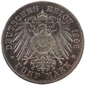 Friedrich I, Germany, Baden, 5 Mark 50 years of Wedding