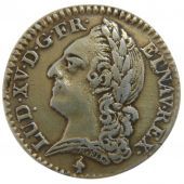 Louis XV, 1/10 Ecu with the Old Head