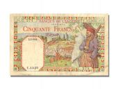 50 Francs Type Native Couple watermark « Letters »