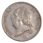 Louis XVIII, 5 Francs, Naked bust