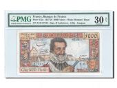 France, 5000 Francs Henri IV 1957, PMG VF 30, Pick 135a