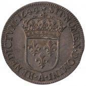 Louis XIV, 1/4 Ecu with the short lock