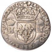 Henri III, Teston with ruffed collar