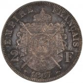 Second Empire, 2 Francs Napol�on III Laureate head Essay
