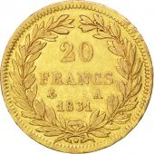 Louis Philippe I, 20 Francs or tête nue