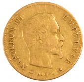Second Empire, 10 Francs or Napoleon III naked head