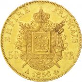 Second Empire, 50 Francs or Napoléon III tête nue