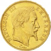 Second Empire, 50 Francs or Napoleon III Laureate Head