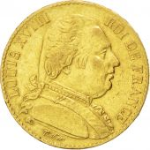 Louis XVIII, 20 Francs or dressed bust