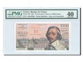 France, 10 NF/1000 Francs Richelieu 1957, PMG EF 40, Pick 138