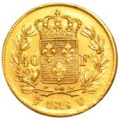 Louis XVIII, 40 golden Francs