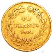 Louis Philippe I, 40 golden Francs