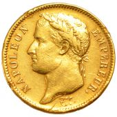 First French Empire, 40 golden Francs with reverse Empire