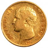 First French Empire, 20 gold Francs Napol�on I bare head