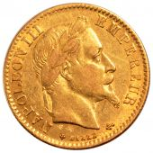 Second French Empire, 10 gold Francs Napoléon III laureate head