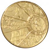 French Fifth Republic, 5 Euros gold 850th anniversary of Notre Dame De Paris