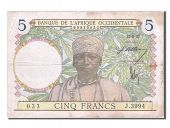 Western Africa, 5 Francs, type 1934-1937